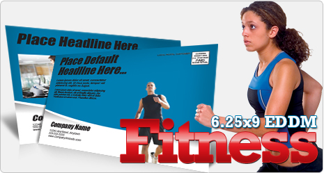 6.25x9 EDDM Fitness Postcard Template