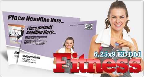 X Fitness Every Door Direct Mail Postcard Template Stretch - Direct mail flyer template