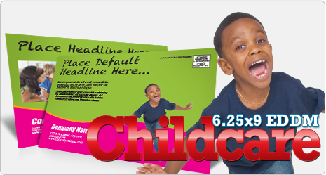 Childcare EDDM Postcard Example