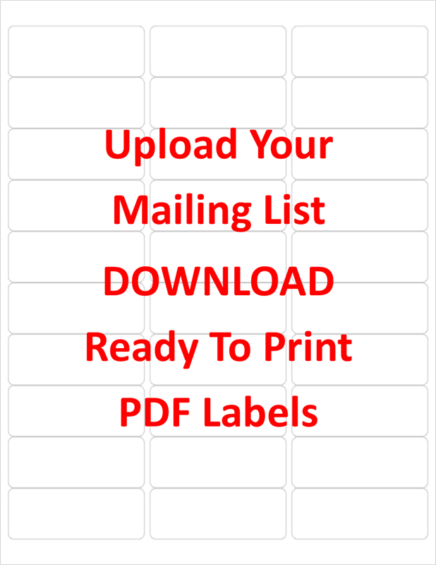 Free PDF Labels  Large Mailing Labels