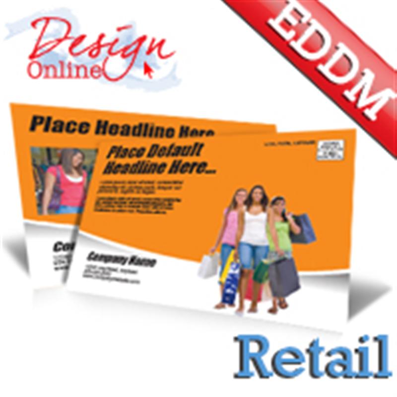 X Retail Every Door Direct Mail Postcard Template Phone - Eddm postcard template
